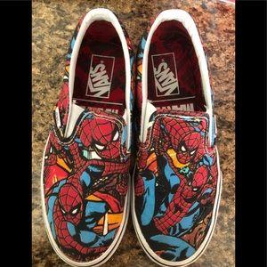 VANS Spider-Man boys slip on men's 5